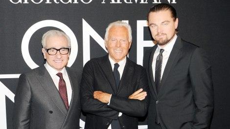 Martin Scorsese, Giorgio Armani, Leonardo Di Caprio